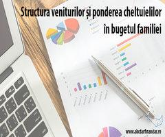 Structura veniturilor și ponderea cheltuielilor în bugetul familiei